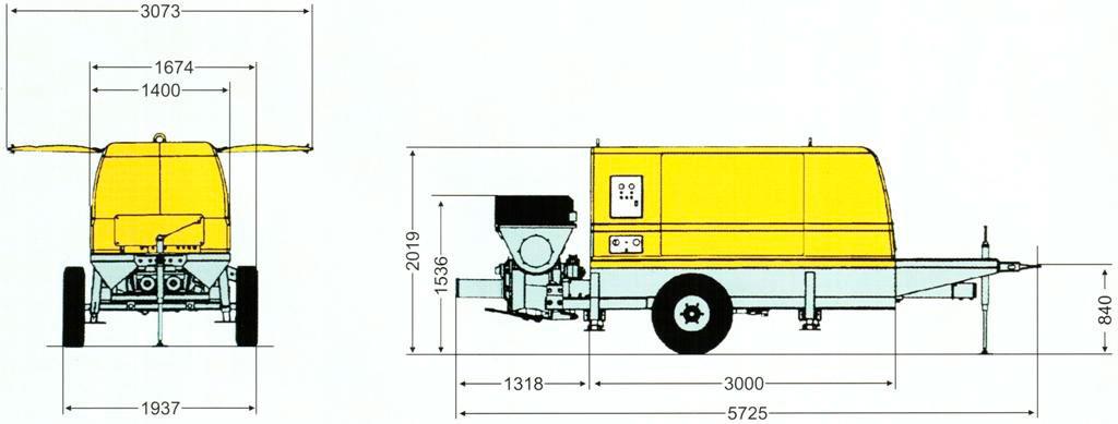 Схема бетононасоса Schwing SP