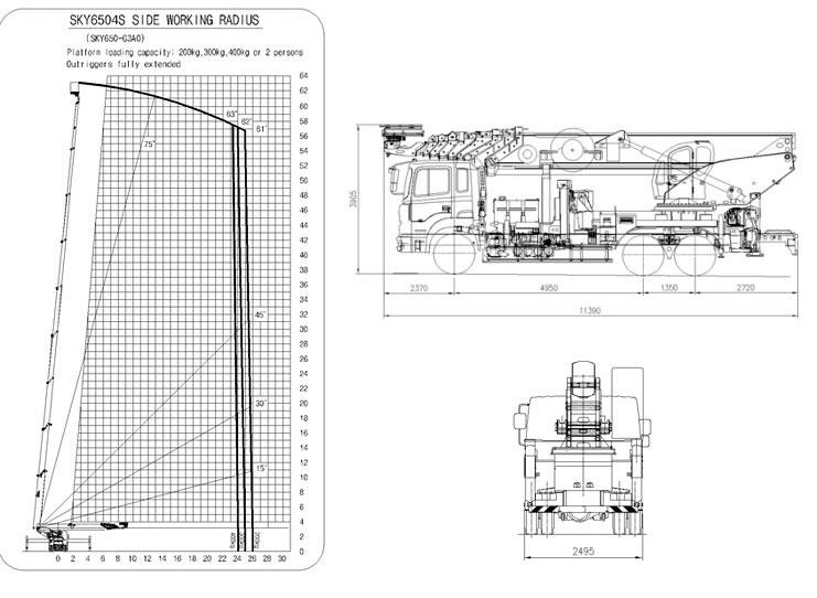 Схема автовышки 60 метров