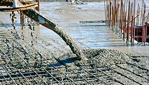 фото забор из бетона